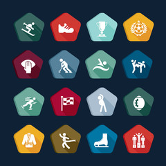 Symbols sport - Vectors set 14