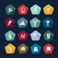 Symbols sport - Vectors set 15