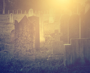 Ancient spooky cemetery