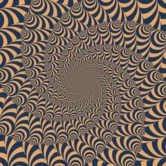 Illusion optique - motif vecteurs 2