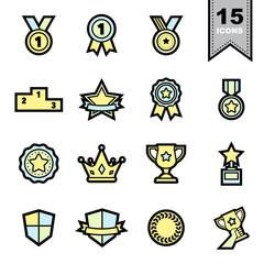 Medal icons set