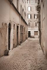 Rome, Italy - sepia tone city