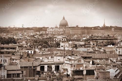 Rome - sepia tone city - 72001344