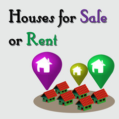 Houses for sale or rent