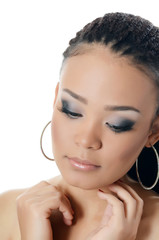 The girl the mulatto with a beautiful make-up