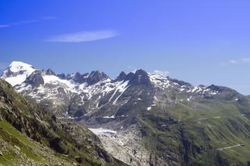 Rhone glacier landscape, Swiss beauty, Switzerland, mountains