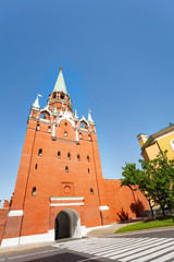 Borovitskaya tower view from below in  Kremlin