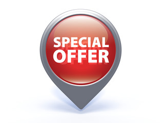Special offer pointer icon on white background