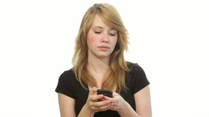 teenager girl bored, taking a selfie photo