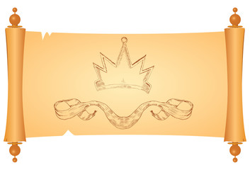 Parchment with heraldic symbols