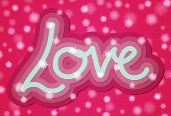 Valentine 3d Love Word Card