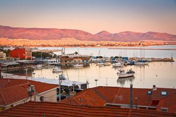 View of Mikrolimano marina in Piraeus, Athens.
