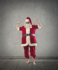 A strong Santa Claus
