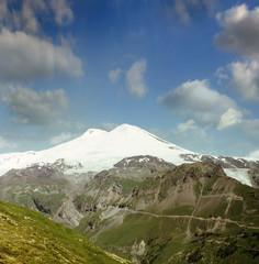 Peak Elbrus, Caucasus mountains, Baksan area, Russia, Europe