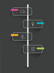 Timeline infographic. Minimalistic flat template.