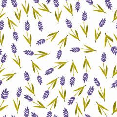 watercolor lavender seamless pattern