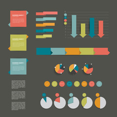 Collection of modern flat infographic elements. Vector.