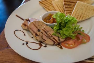 plate of foie gras
