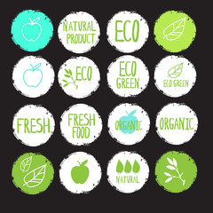 sticker label natural products