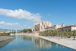 canvas print picture - Ausblick auf die Kathedrale von Palma