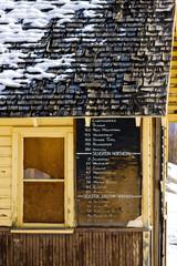 timetable, Silverton, Colorado, USA