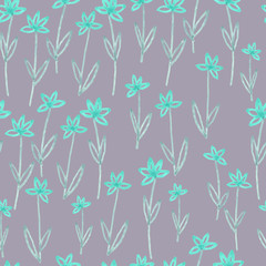 simple watercolor seamless pattern with flower