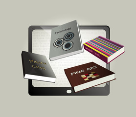Electronic, ebook concept design.