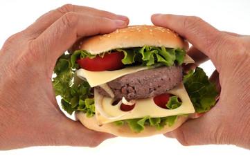 Hamburger maison en main
