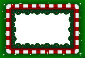 biglietto cornice natalizia