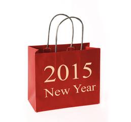 new year 2015 shopping bag