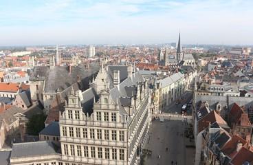 View of Ghent, Belgium from Belfry