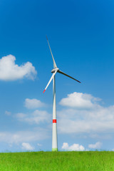 One wind power turbine