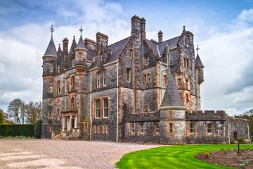 Historic Blarney mansion at the castle in Co. Cork, Ireland
