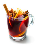 Glass of red mulled wine - 72009179