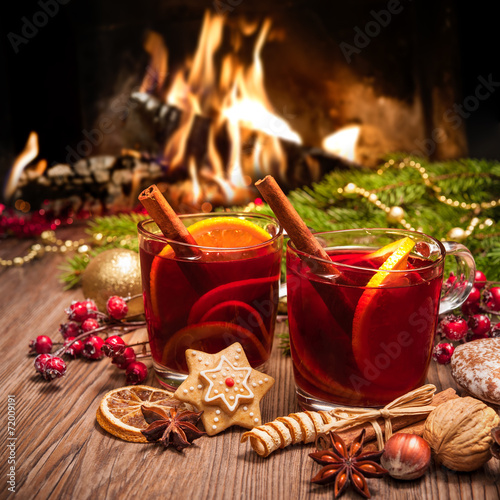 Tuinposter Thee Mulled wine