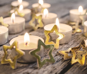 Merry Christmas: Atmospheric candle light
