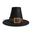 3d illustration of a pilgrim hat - 72010191