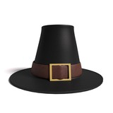 3d illustration of a pilgrim hat