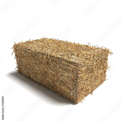 3d illustration of a hay bale rectangle - 72010193