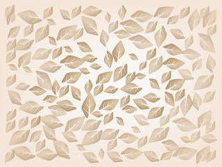 Dried Leaves Laying on A Brown Background
