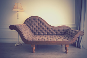 Vintage of brown sofa