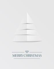 Minimal merry christmas vector in grey