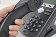 Leinwanddruck Bild - 電話をかける making a phone call