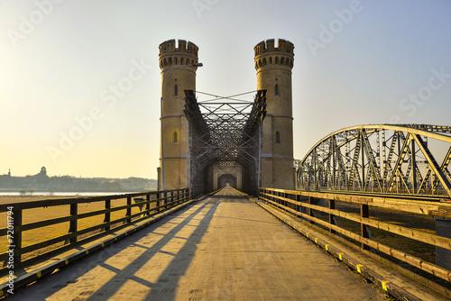 Zdjęcia na płótnie, fototapety, obrazy : Most kratowy, zabytkowy most drogowy, Tczew, Polska