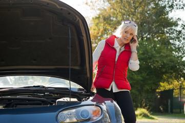 Hilfe anfordern bei Autopanne