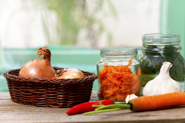 preparation of home-made vegetable