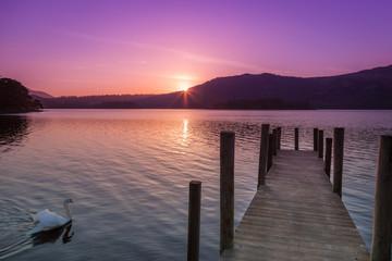 Derwent Water sunrise, Keswick, Cumbria, England