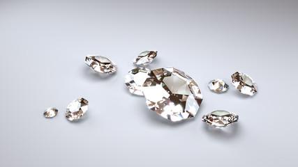 Big Diamonds on a Grey Background