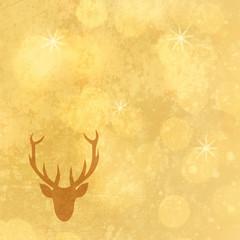 goldener hintergrund mit hirschkopf