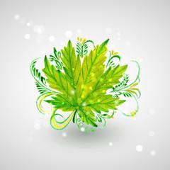 Зеленый кленовый лист